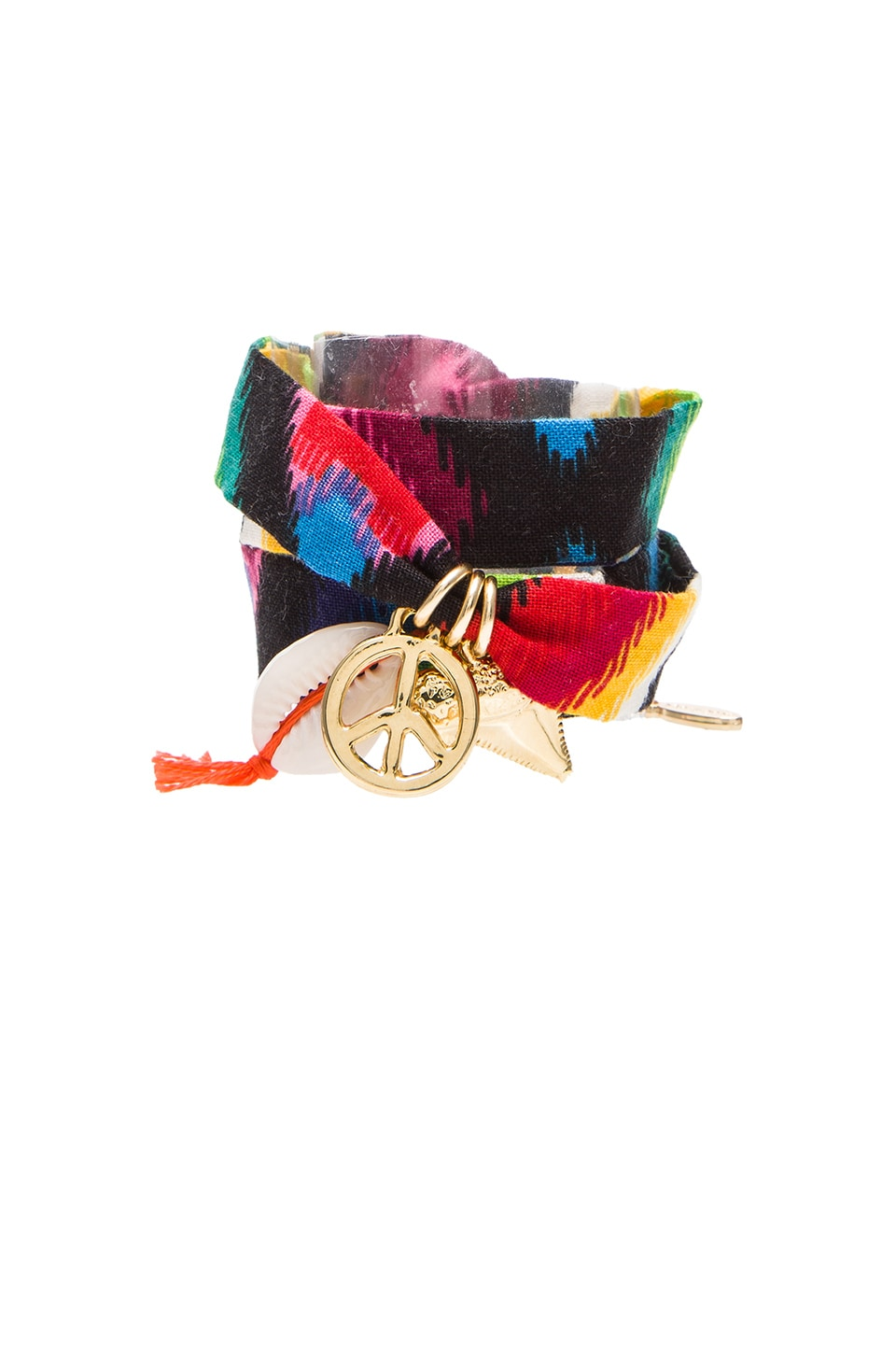 Ettika Guatamala Fabric Wrap Friendship Bracelet in Multi