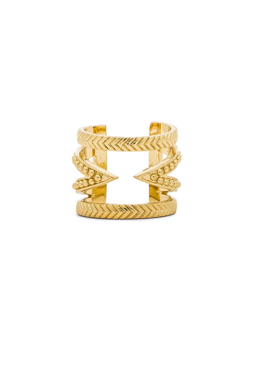 Ettika Cut Out Bar Ring in Gold
