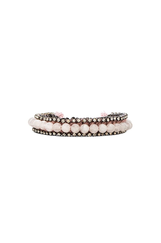 Ettika Bracelet in White & Mauve & Silver