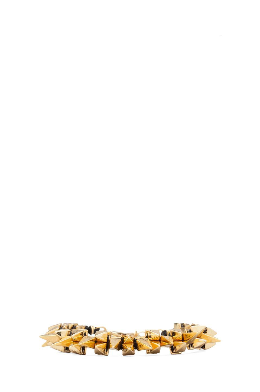 Ettika Gold Spikes Bracelet in Black
