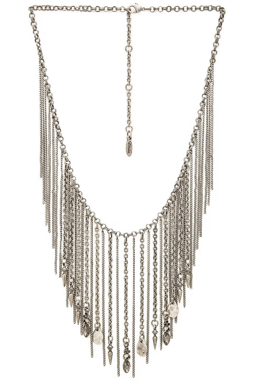 Ettika Fringe Collar Necklace in Silver