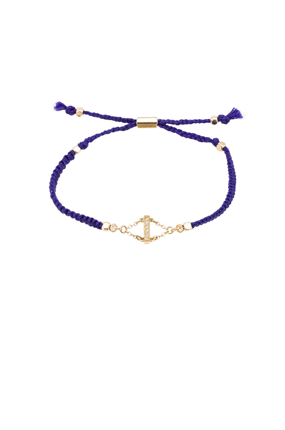 Ettika Dainty Friendship Bracelet With Pave in Blue