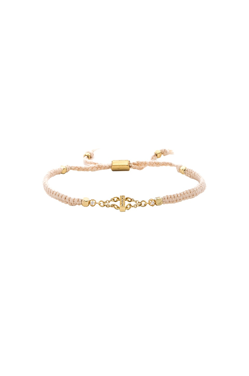Ettika Bracelet in Cream & Gold