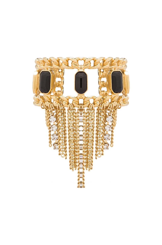 Ettika x REVOLVE Fringe Chain Cuff in Black/Gold