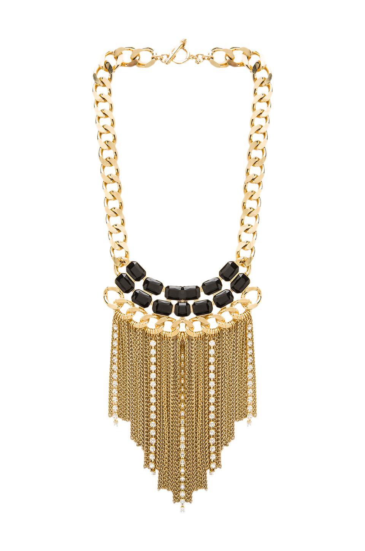 Ettika x REVOLVE Fringe Necklace in Black/Gold
