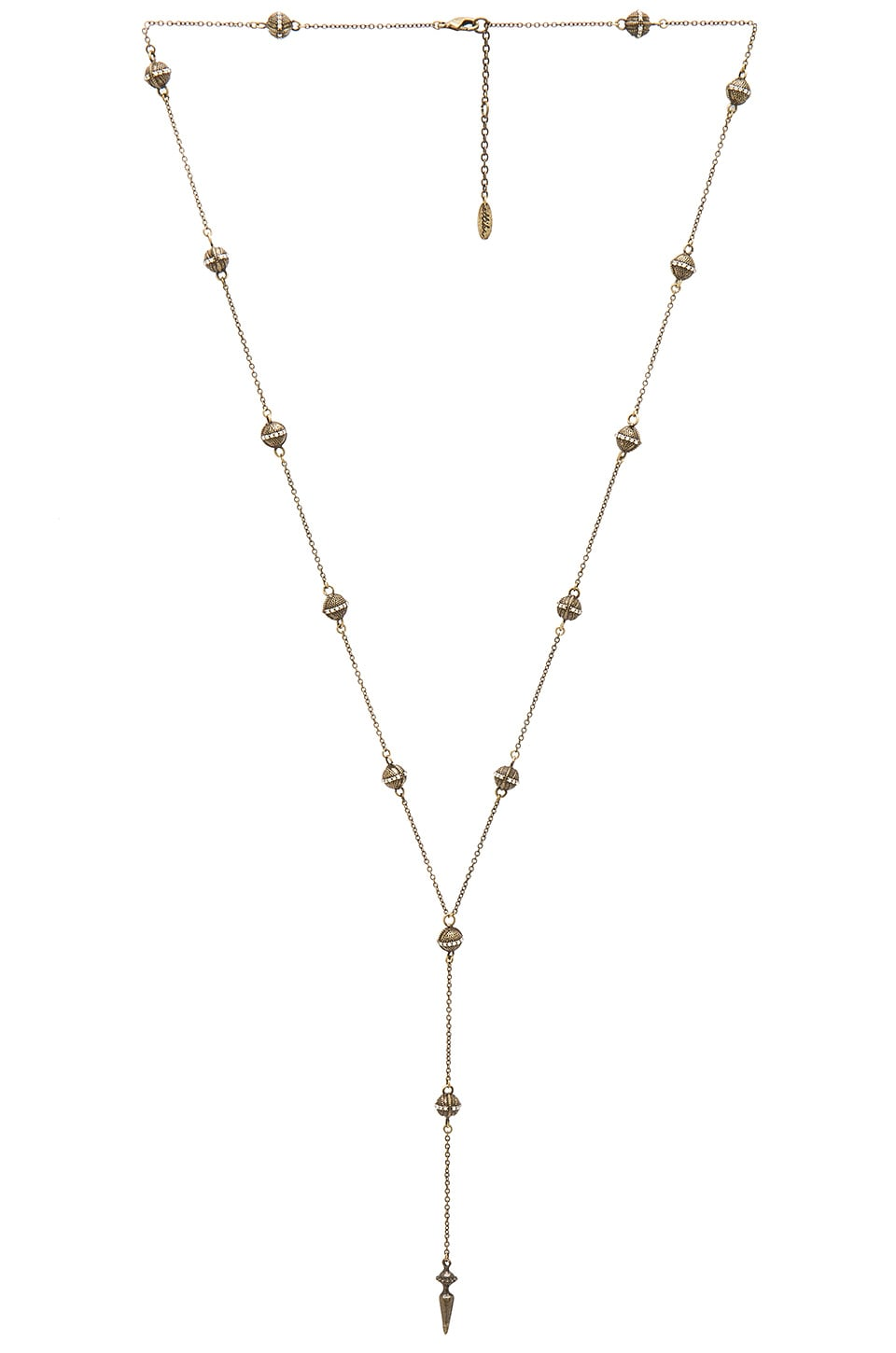 Ettika Ball Chain Necklace in Brass