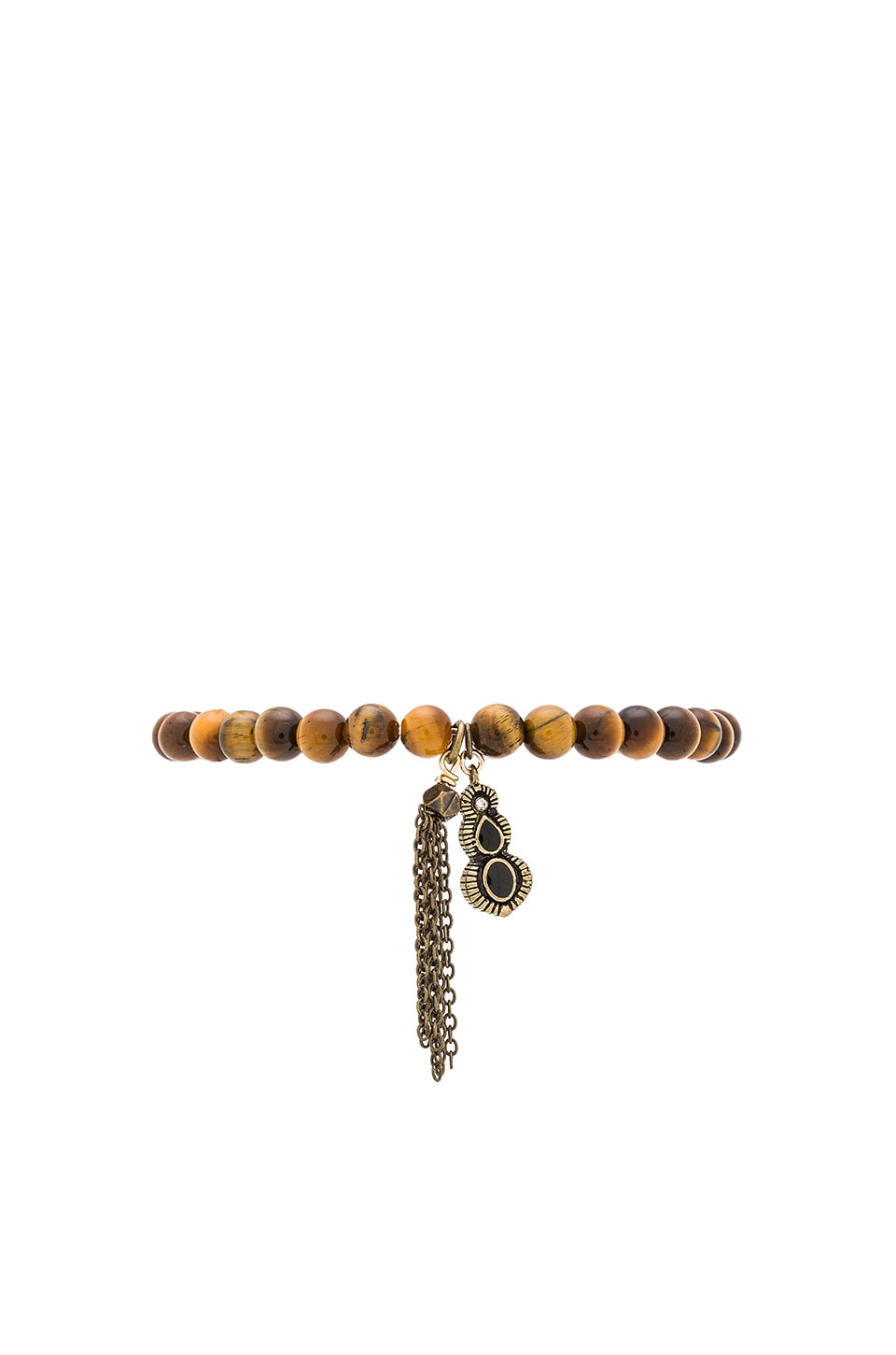 Ettika Drop Chain Beaded Bracelet in Brown