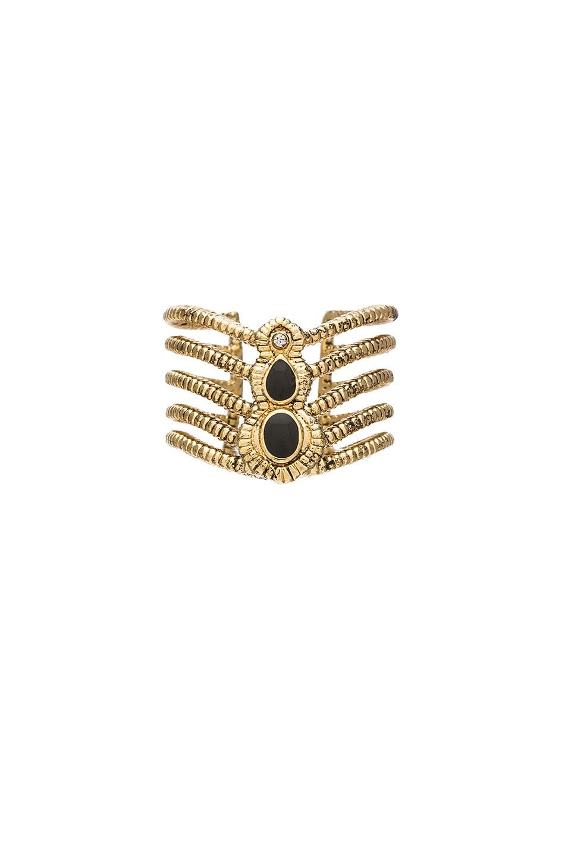 Ettika Antique Gold & Black Ring