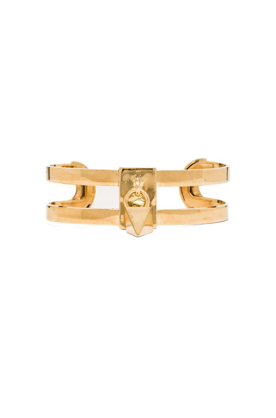 Ettika Spike Charm Cuff in Gold