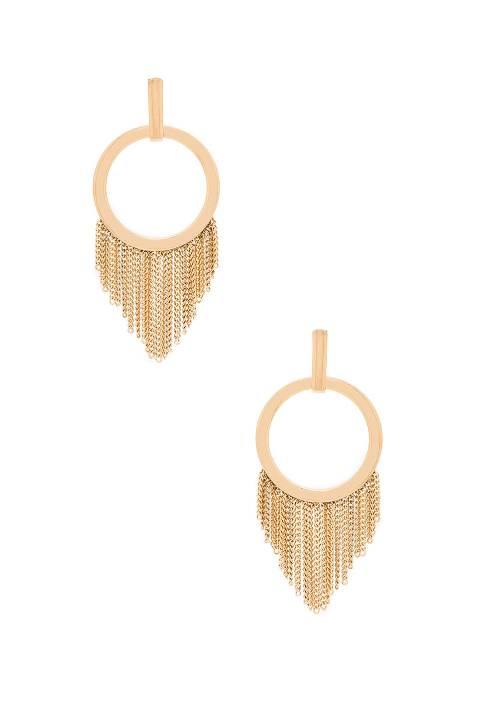Ettika Fringe Earring in Gold