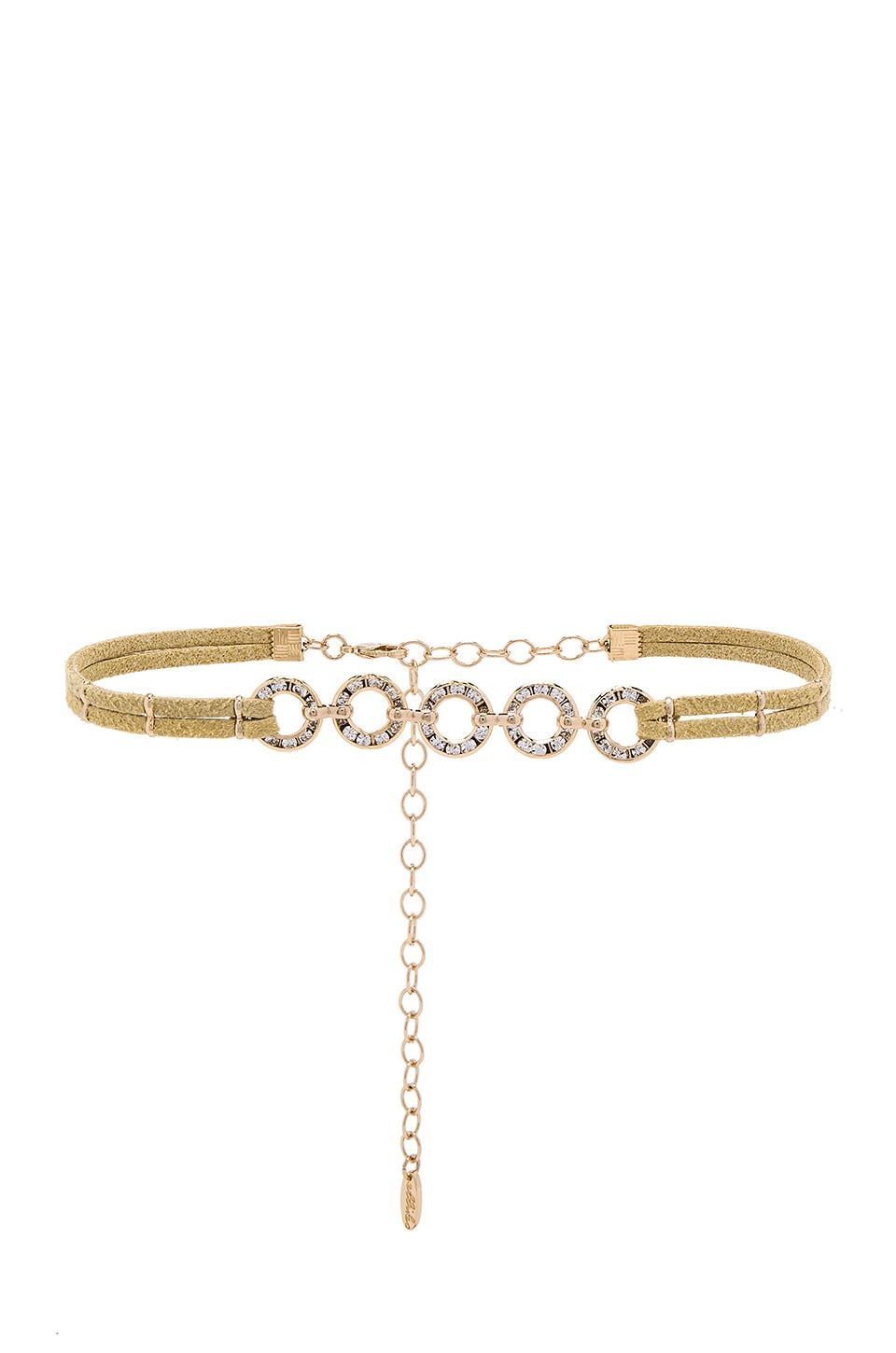 Ettika Circle Choker in Gold
