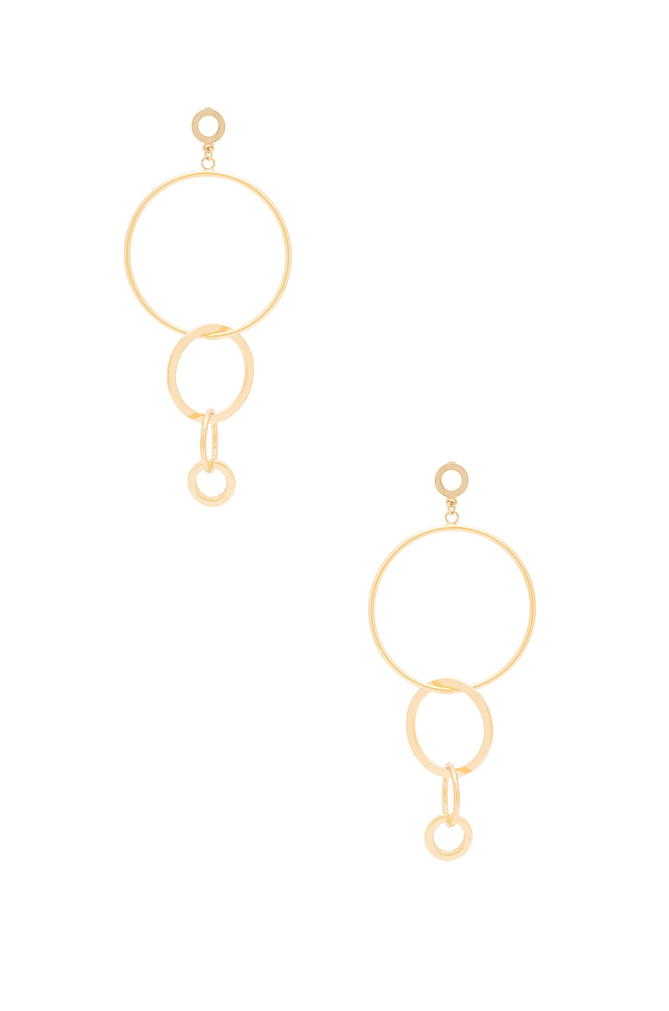 Ettika Hoop Link Earring in Gold