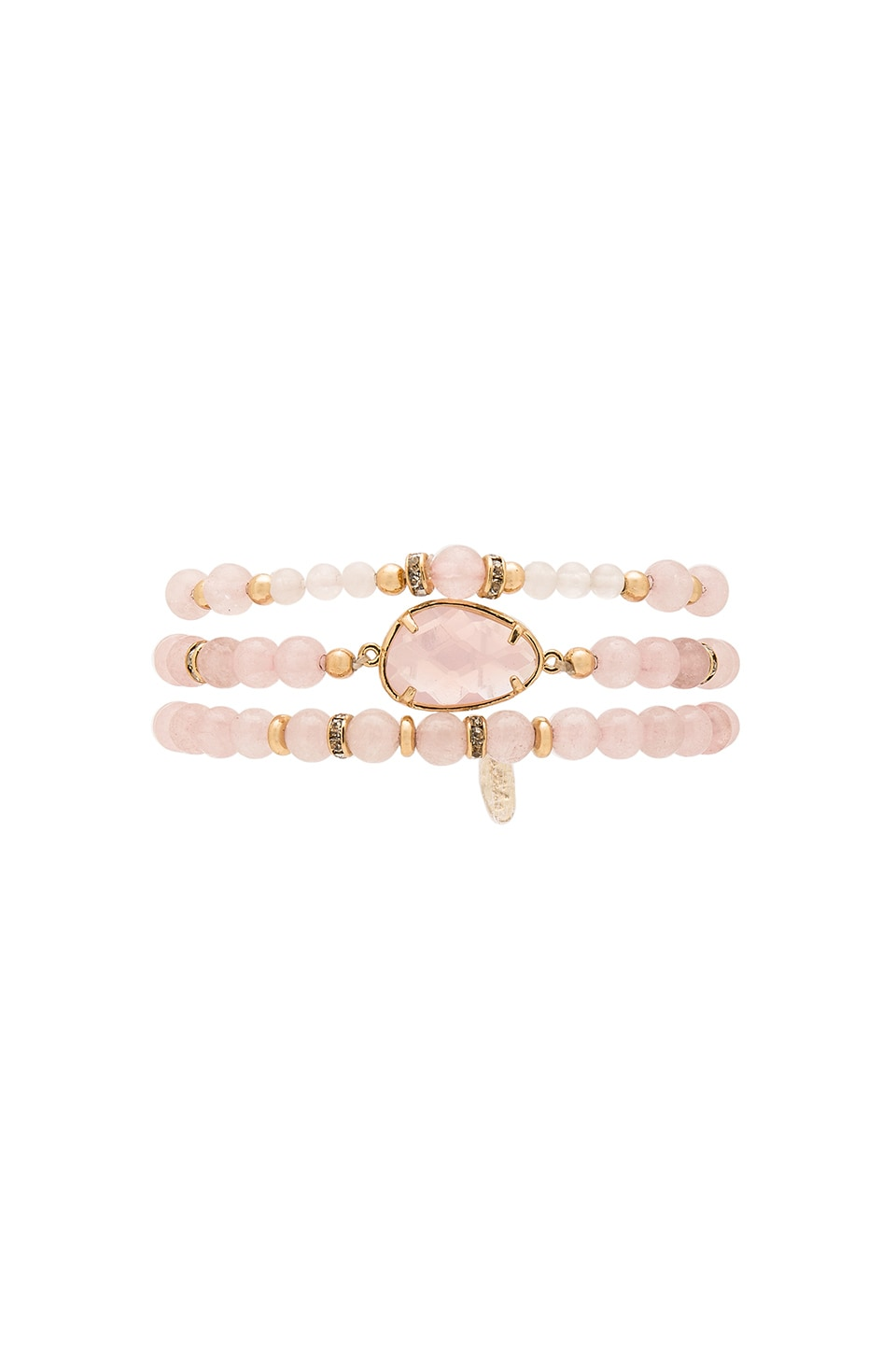 Ettika Beaded Bracelet Set in Pink