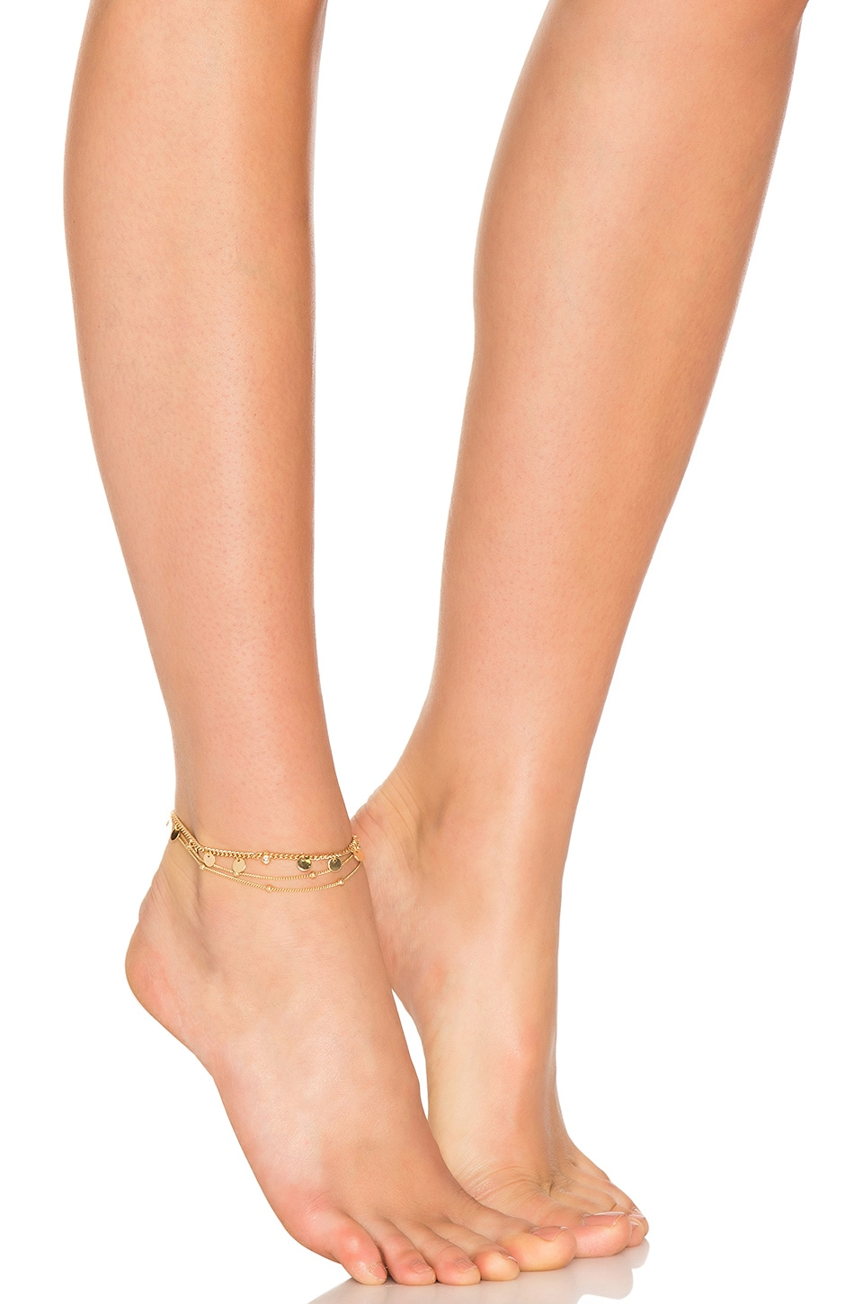 Ettika Coin Anklet in Gold