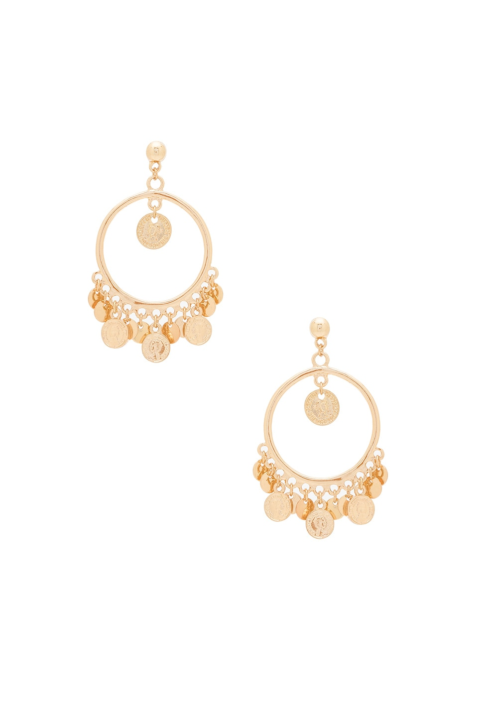 Ettika Coin Earring in Gold