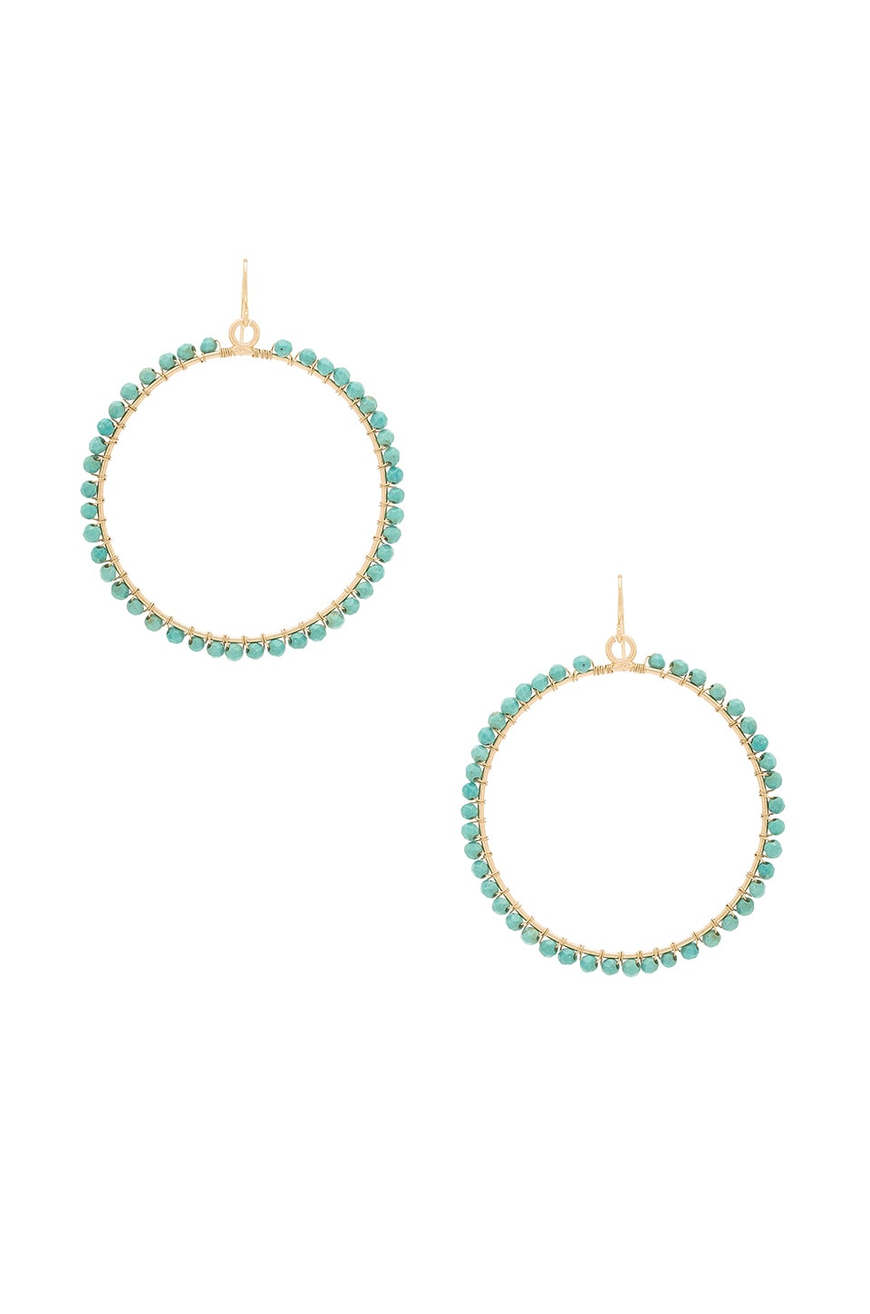 Ettika Beaded Hoop in Turquoise