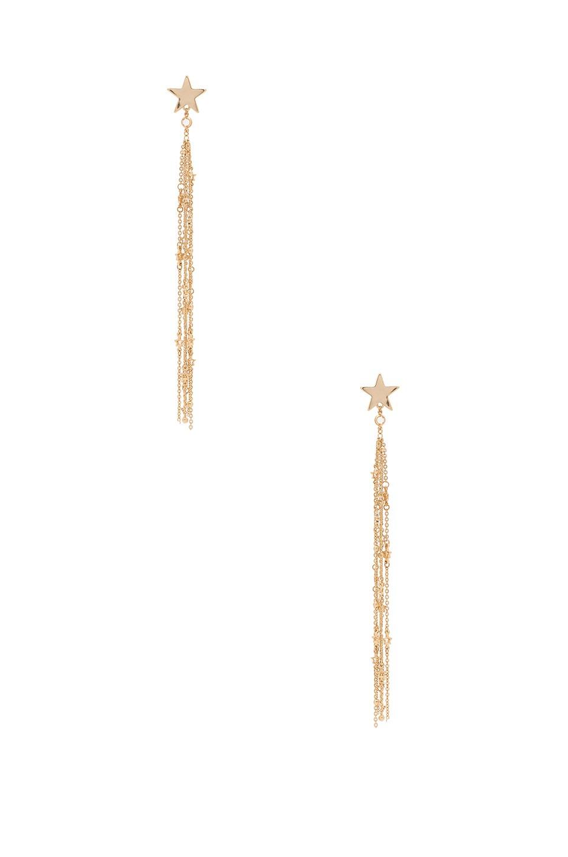 Ettika Shooting Star Tel Earrings In Gold