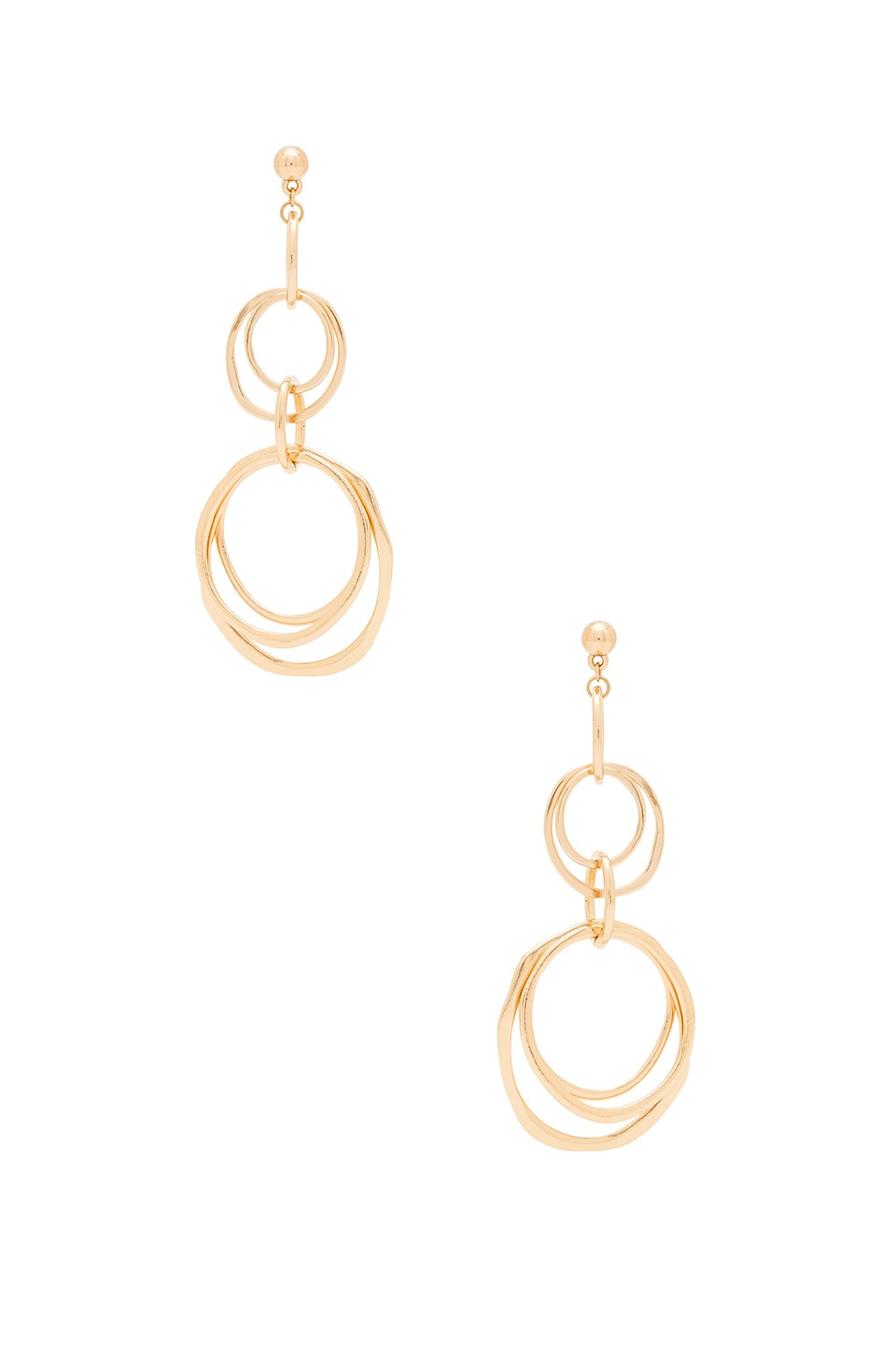 Ettika Multi Ring Earrings in Gold