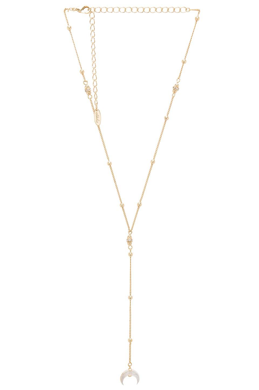 Ettika Hanging Crescent Lariat in Gold