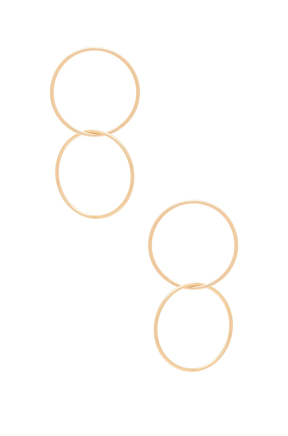 Ettika Joining Circle Earrings in Gold