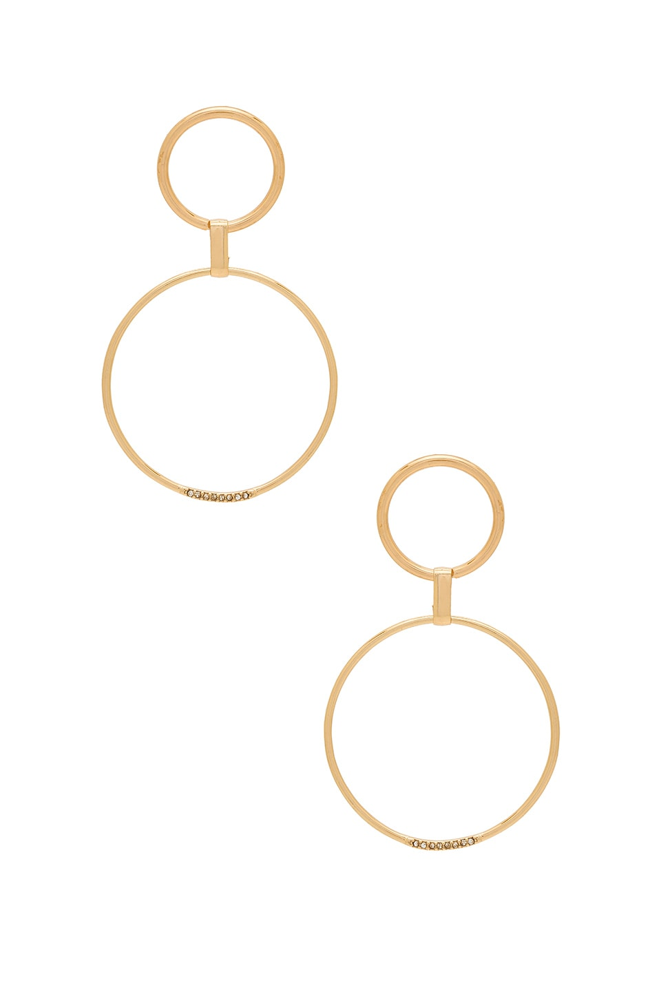 Ettika Circle Link Earrings in Gold