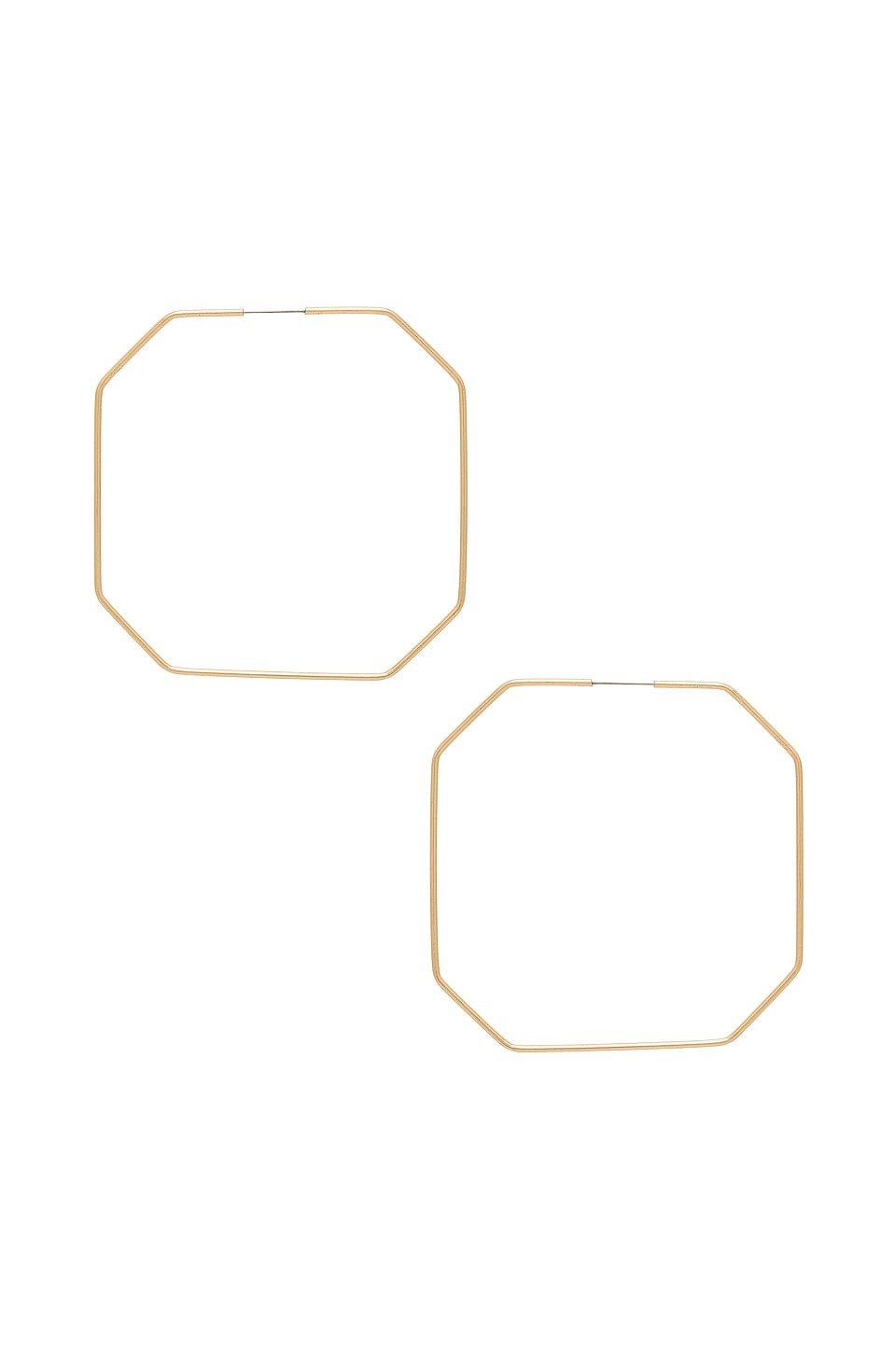 Ettika Octagon Hoops in Gold