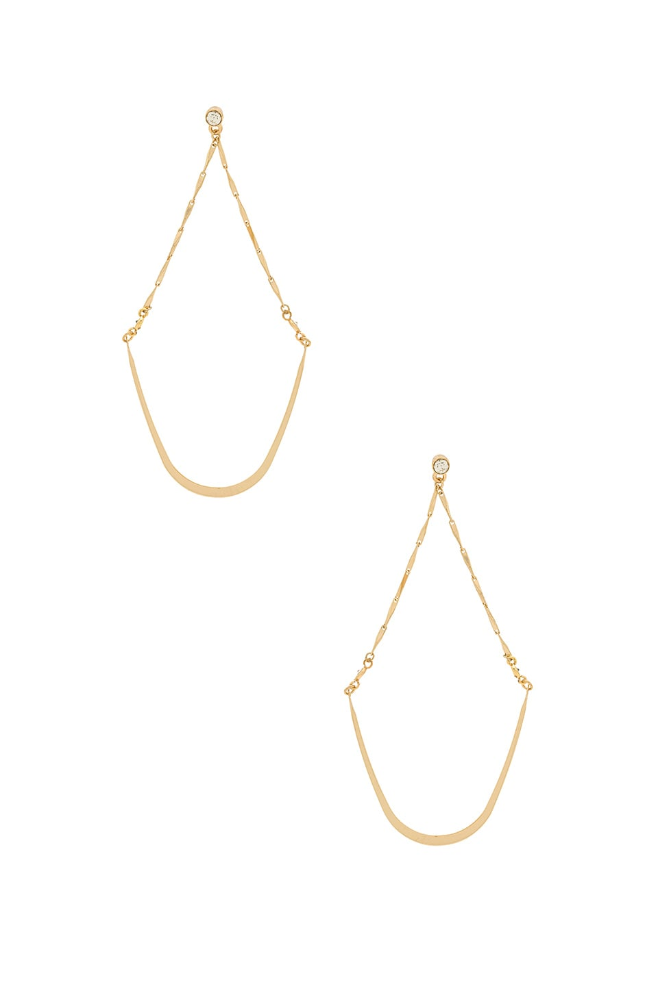 Ettika Ballroom Beauty Earrings in Gold