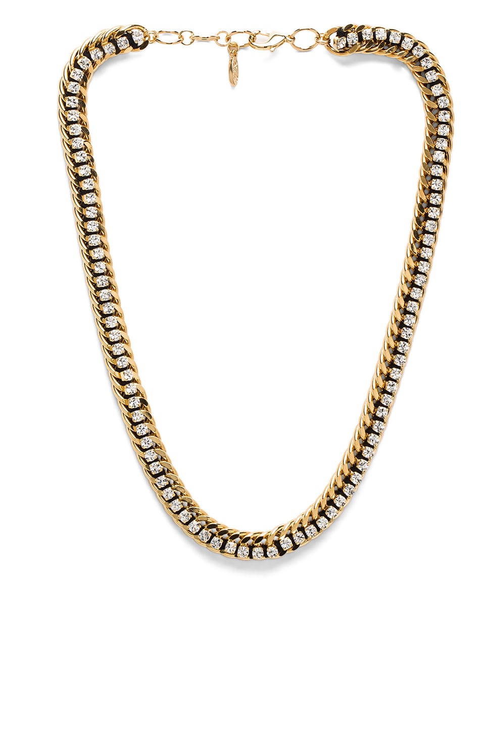 Ettika Gold Chain Necklace in Gold & Black