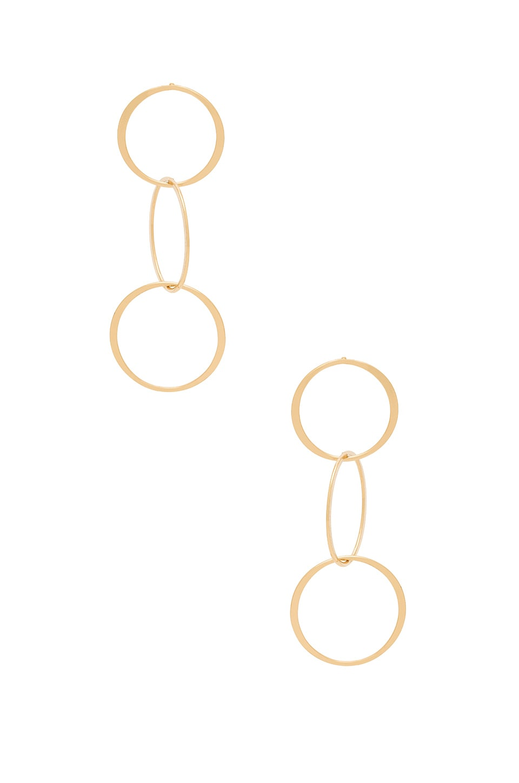 Ettika Linked Melodies Earrings in Gold