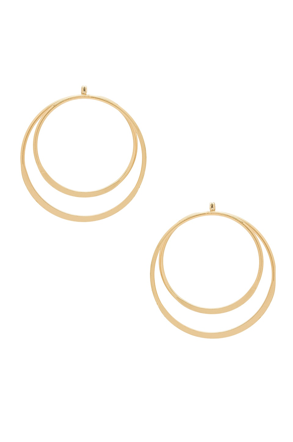 Ettika Double Hoop Earrings in Gold