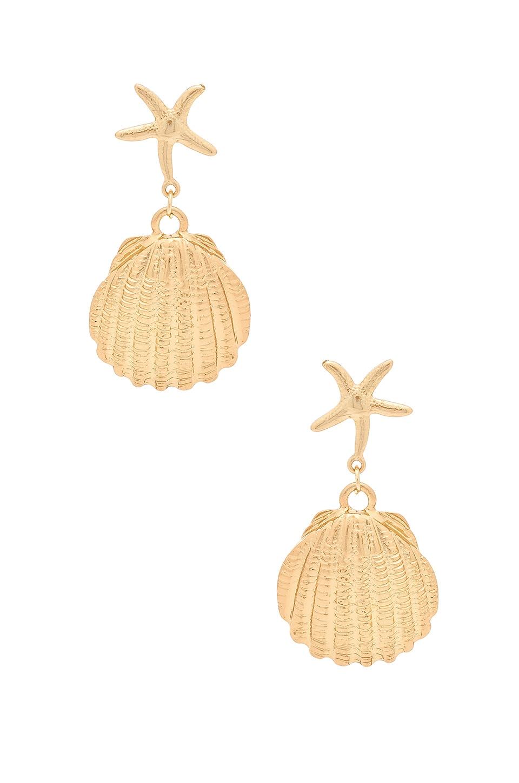 Ettika X REVOLVE Seashell Drop Earrings in Gold
