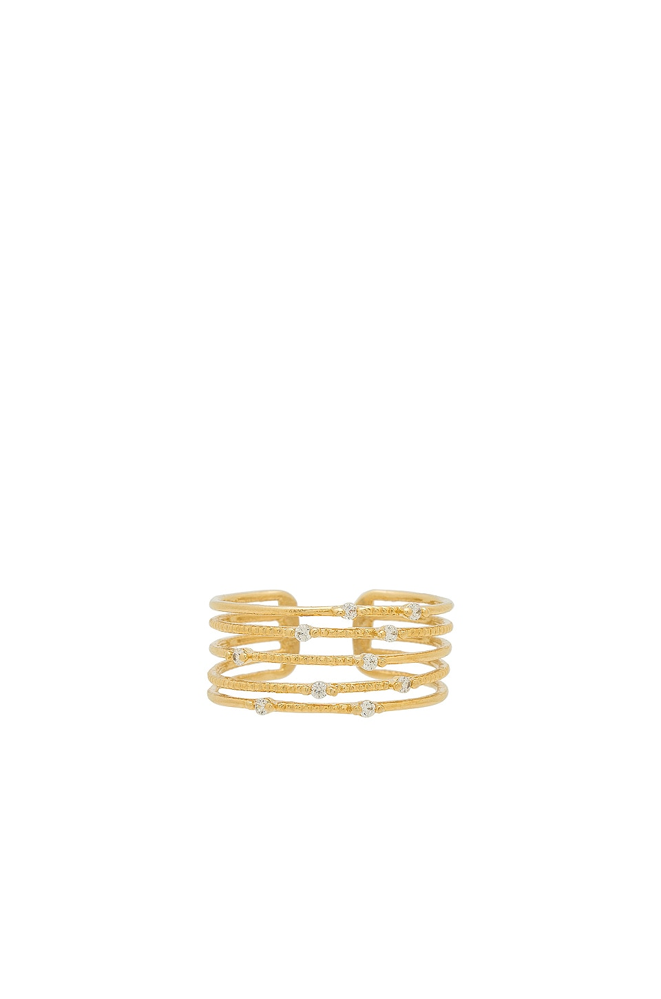 Ettika Stacked Adjustable Ring in Gold
