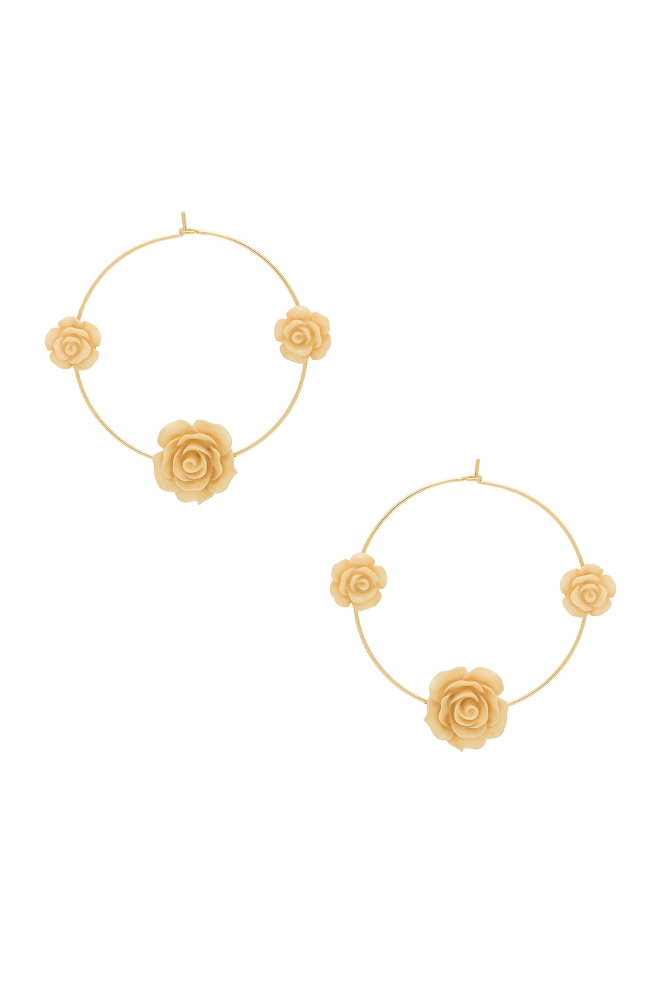 Ettika Rose Hoops in Gold