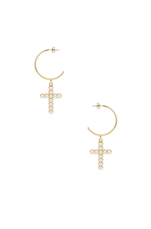 Ettika Cross Earrings in Gold