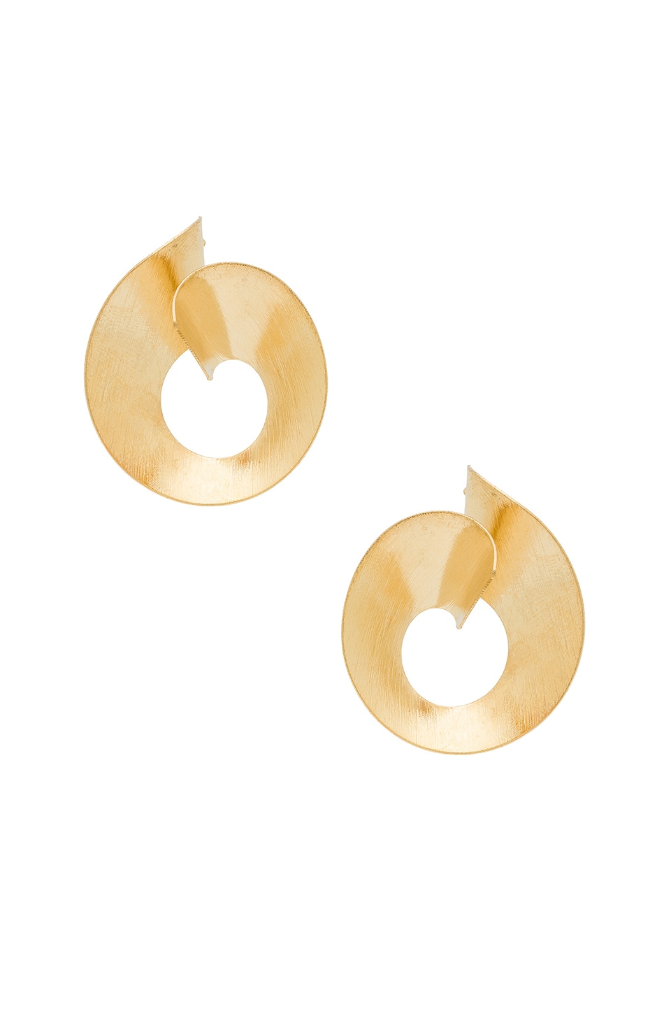 Ettika Circle Earrings in Gold