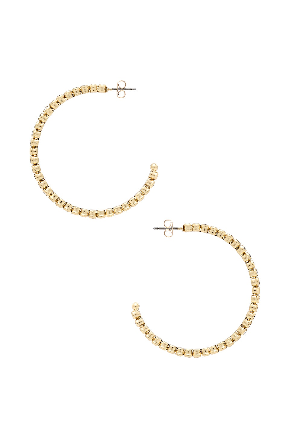 Ettika Crystal Hoops in Gold