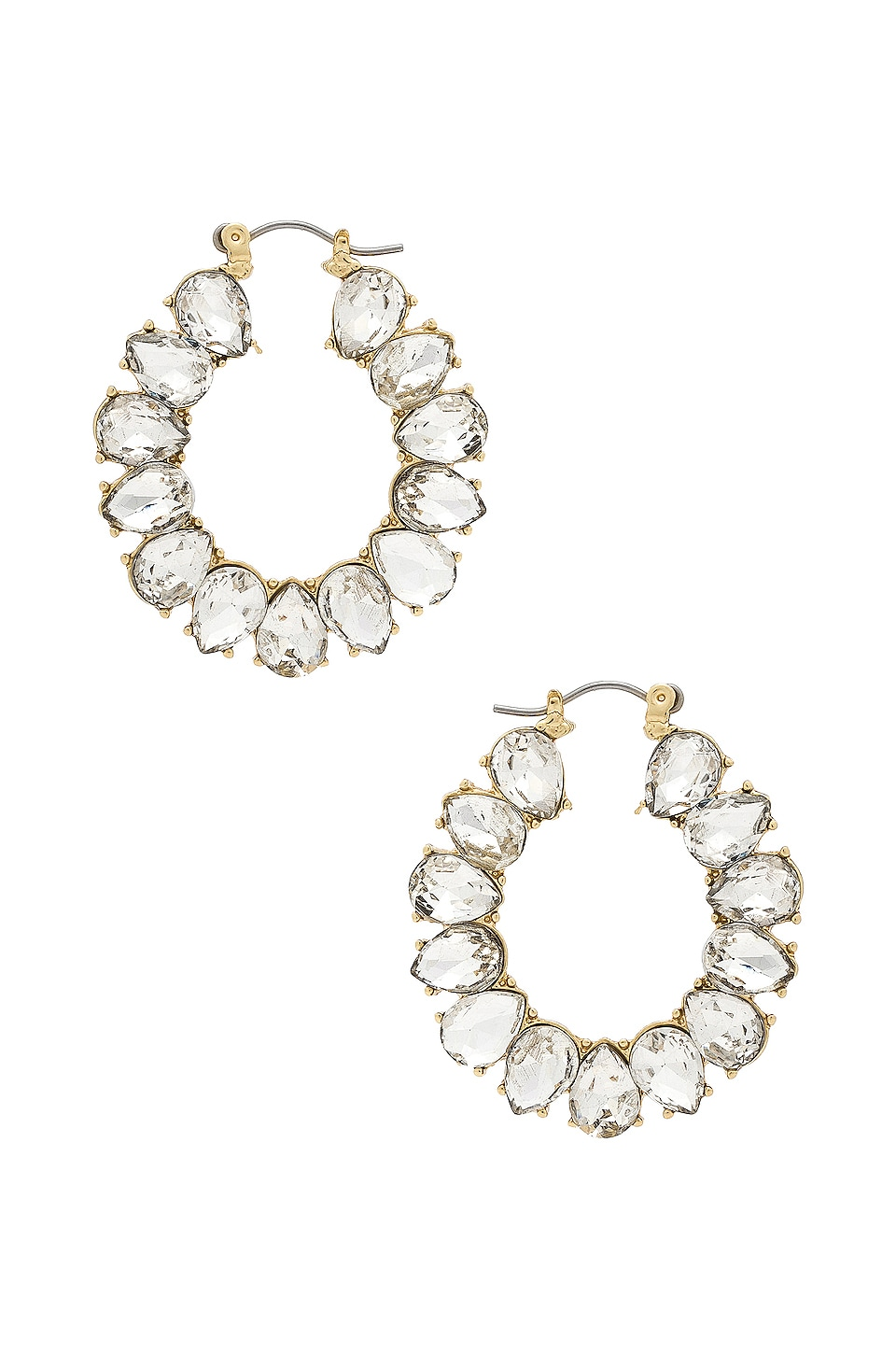 Ettika Embellished Hoops in Gold