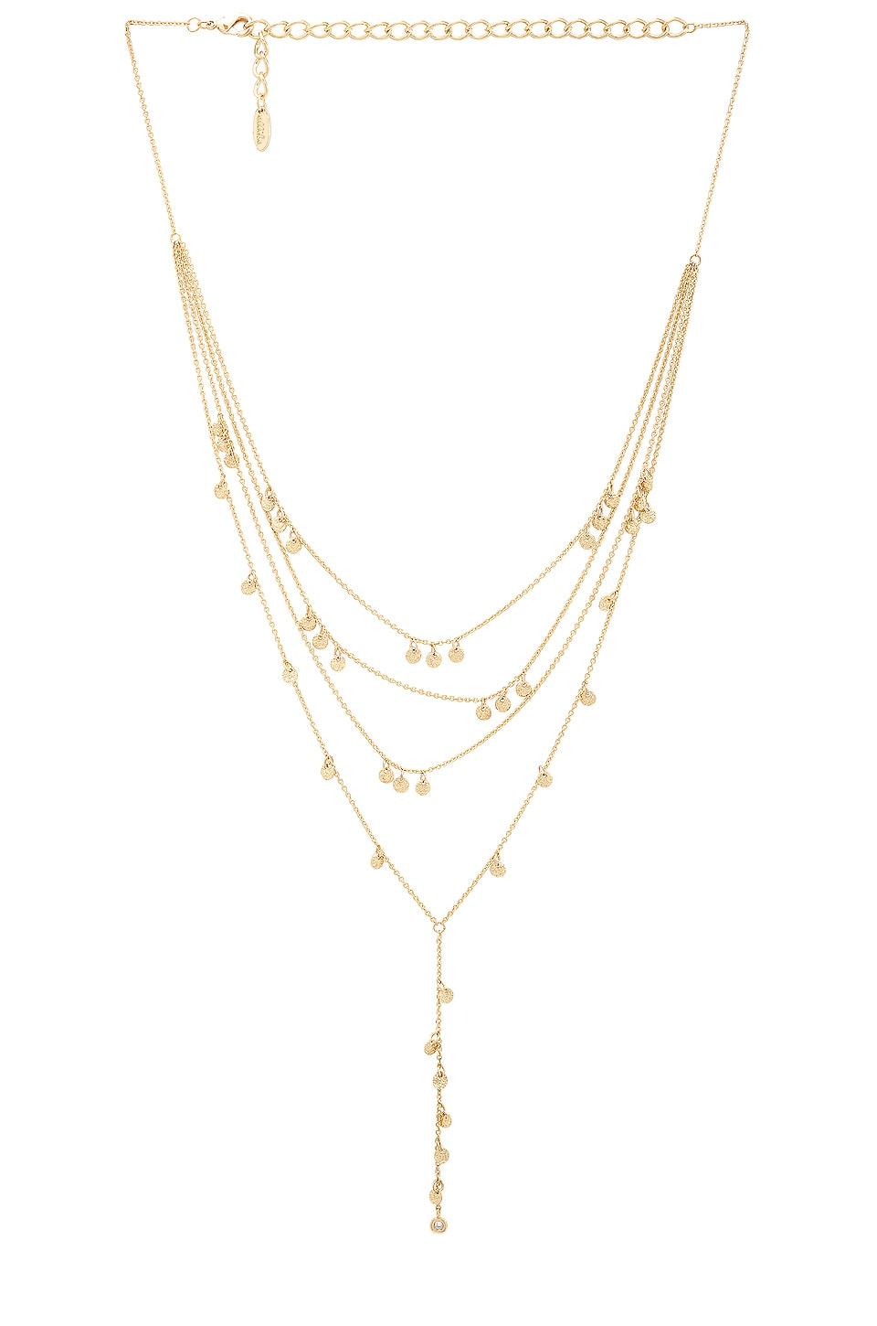 Ettika Crystal Droplets Lariat in Gold