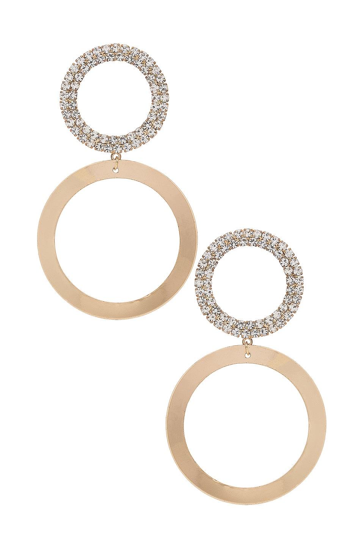 Ettika Rhinestone Hoop Earring in Gold