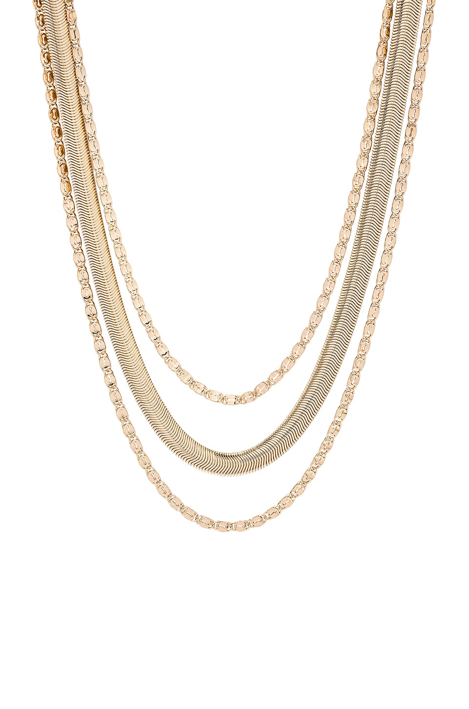 Ettika Layered Necklace in Gold