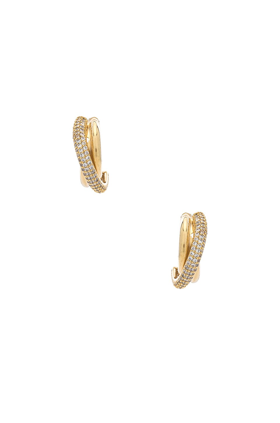 Ettika Rhinestone Layered Earring in Gold