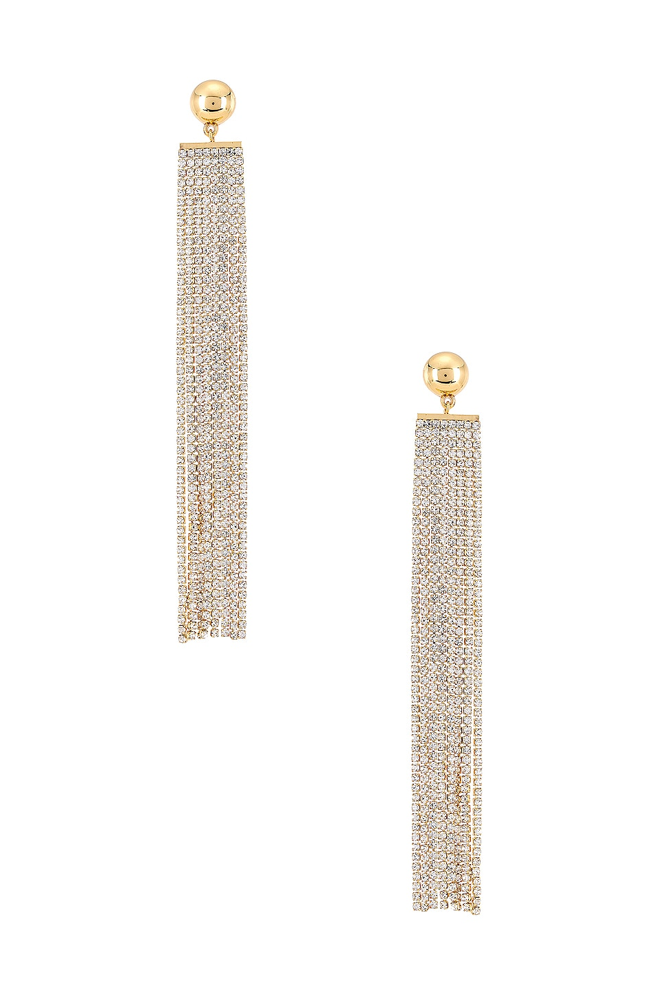 Ettika Rhinestone Waterfall Earring in Gold