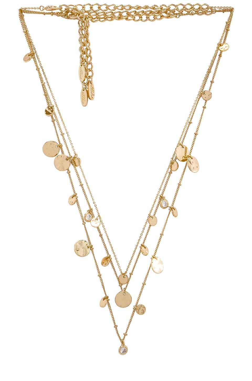 Ettika Layered Mini Disc Necklace in Gold