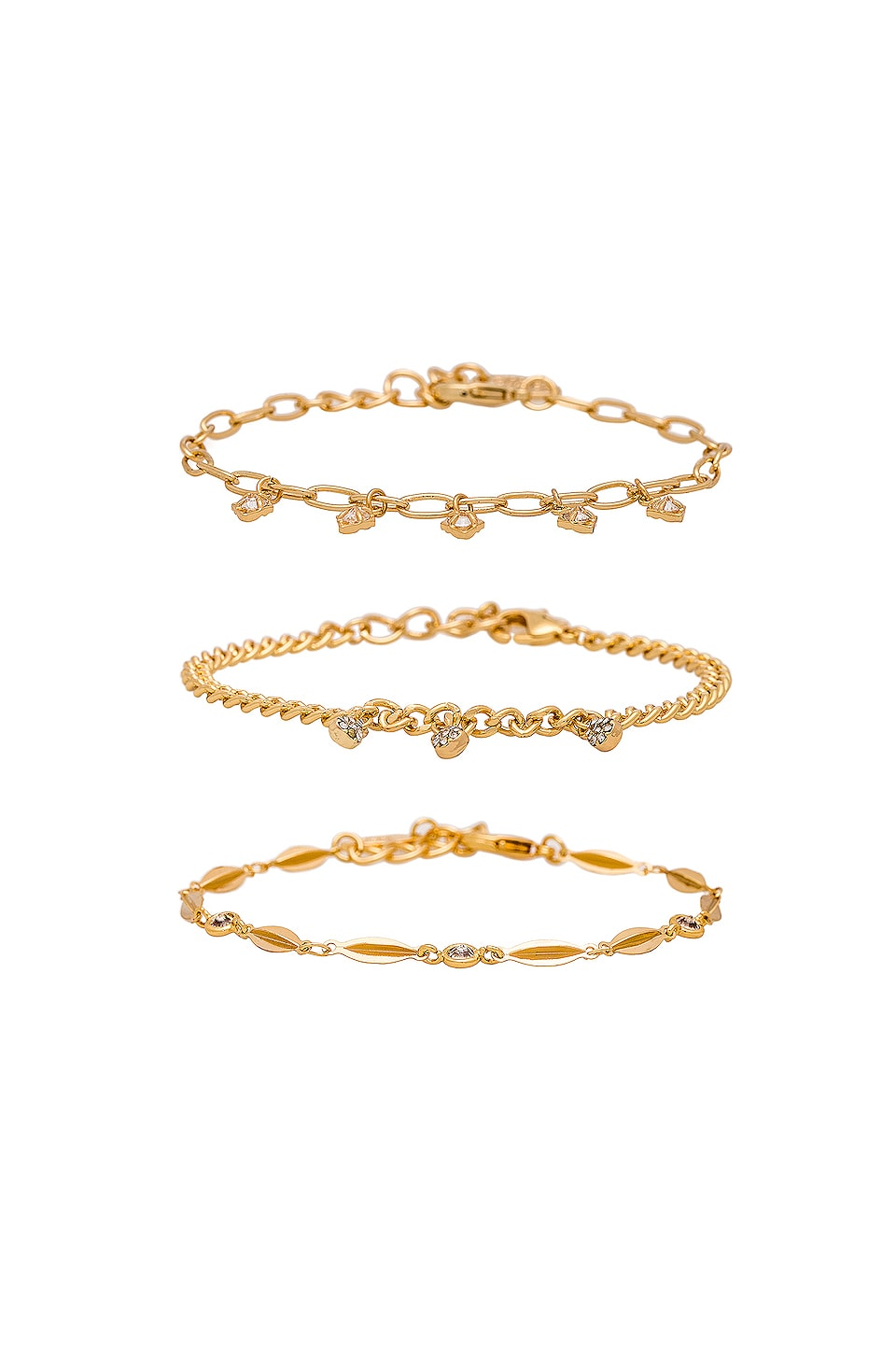 Ettika Dainty Bracelet Set in Gold