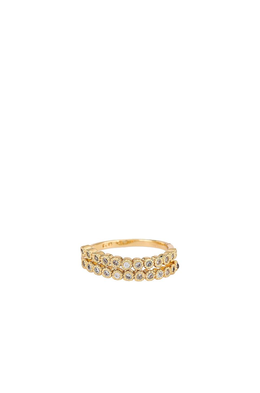 Ettika Rhinestone Spiral Ring in Gold