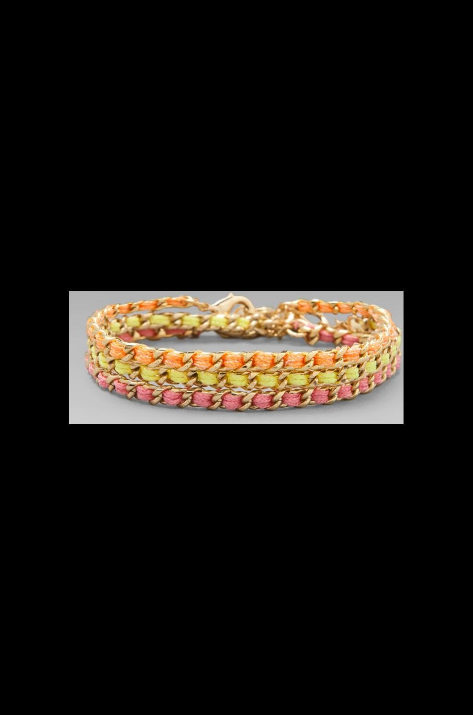 Ettika Gold Stud Wrap Bracelet in Neon Multi