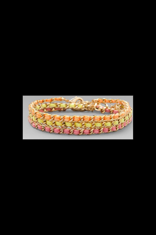 Ettika Gold Stud Wrap Bracelet en Neon Multi