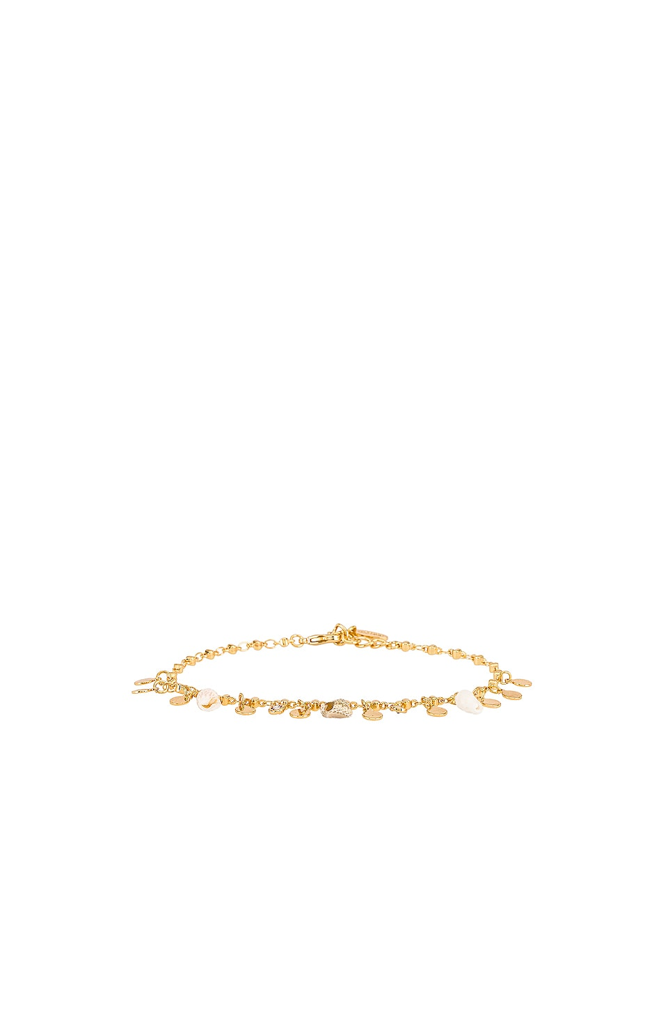Ettika Shell Anklet in Gold