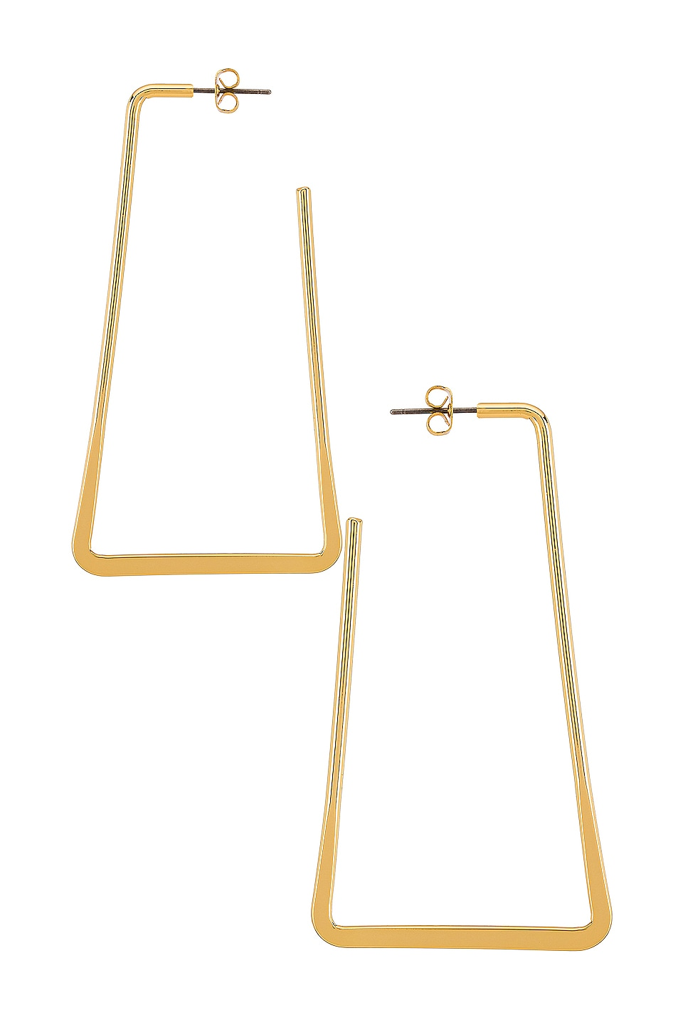 Ettika Square Hoop Earrings in Gold