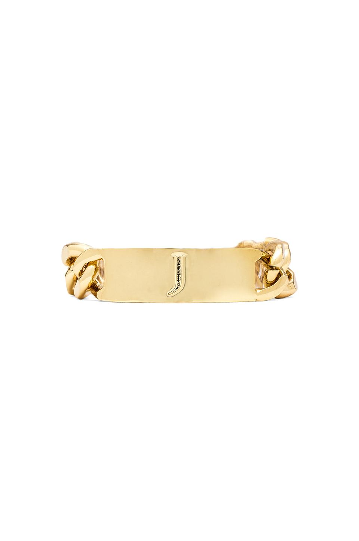 Ettika J Initial ID Bracelet in Gold